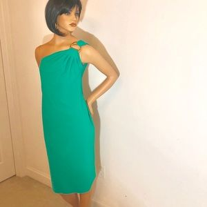 Knee length green cocktail dress size 8